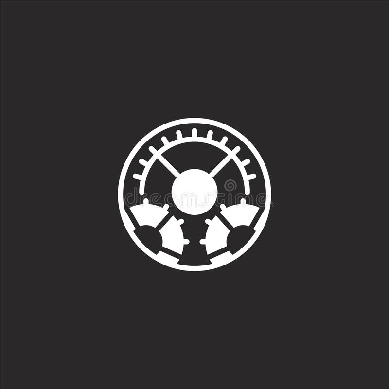 εικονίδιο τοποθετήσεων Γεμισμένο εικονίδιο τοποθετήσεων για το σχέδιο ιστοχώρου και κινητός, app ανάπτυξη εικονίδιο τοποθετήσεων  διανυσματική απεικόνιση