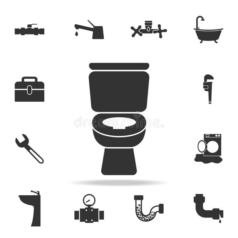 Εικονίδιο τουαλετών λουτρών WC Λεπτομερές σύνολο εικονιδίων στοιχείων υδραυλικών Γραφικό σχέδιο εξαιρετικής ποιότητας Ένα από τα  ελεύθερη απεικόνιση δικαιώματος
