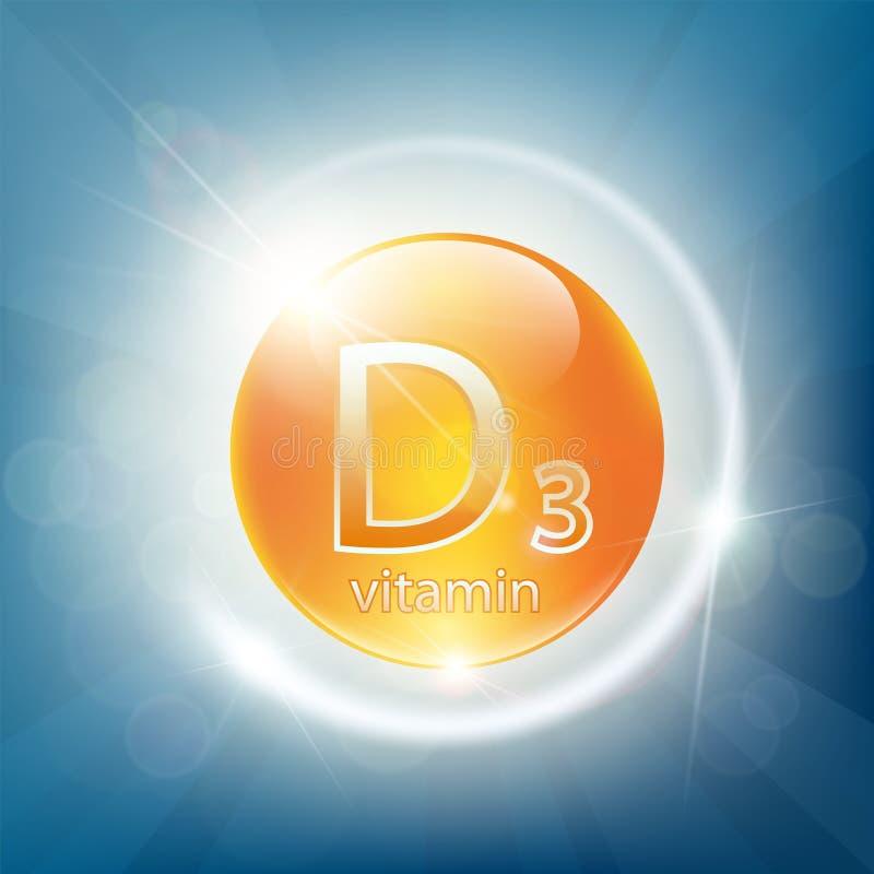 Εικονίδιο του ασβεστίου D3 διανυσματική απεικόνιση