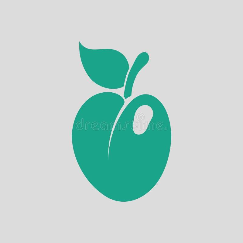 Εικονίδιο του δαμάσκηνου απεικόνιση αποθεμάτων