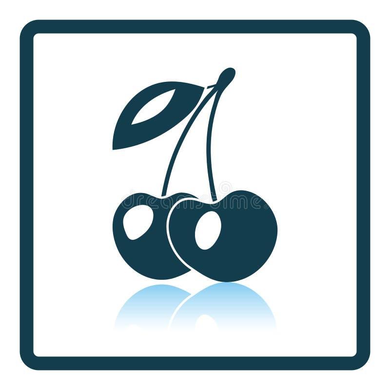Εικονίδιο του κερασιού απεικόνιση αποθεμάτων