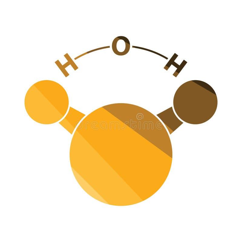 Εικονίδιο του χημικού νερού μορίων διανυσματική απεικόνιση