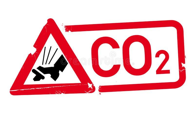Εικονίδιο του CO2 γραμματοσήμων Μειώστε τις εκπομπές του CO2 ελεύθερη απεικόνιση δικαιώματος
