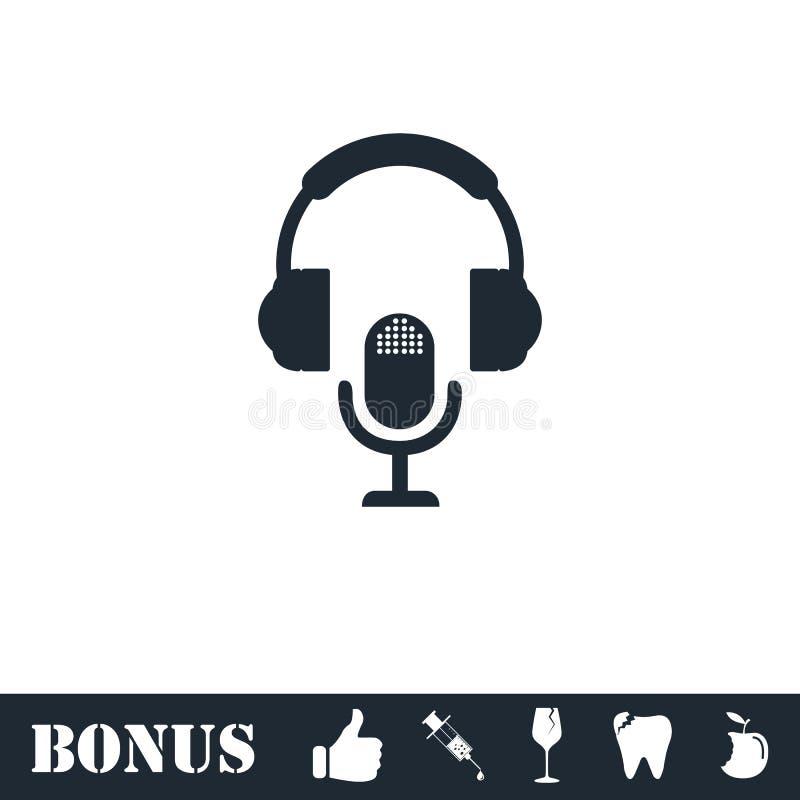 Εικονίδιο του DJ επίπεδο ελεύθερη απεικόνιση δικαιώματος
