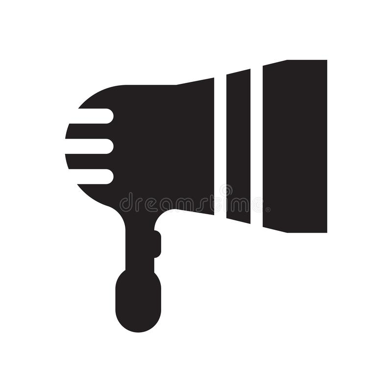 Εικονίδιο του DJ που απομονώνεται στο άσπρο υπόβαθρο απεικόνιση αποθεμάτων