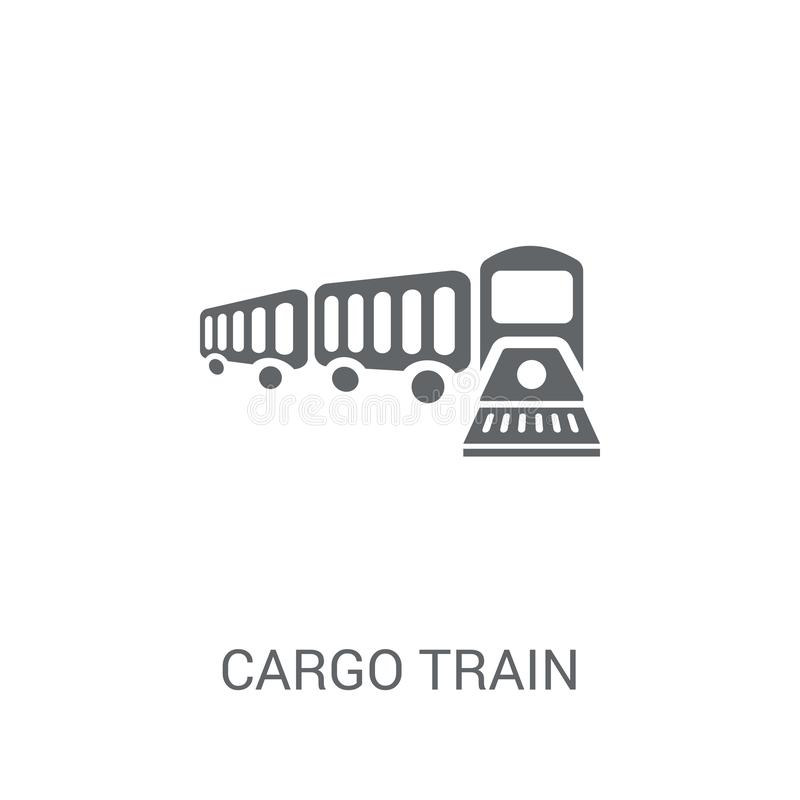Εικονίδιο τραίνων φορτίου  απεικόνιση αποθεμάτων