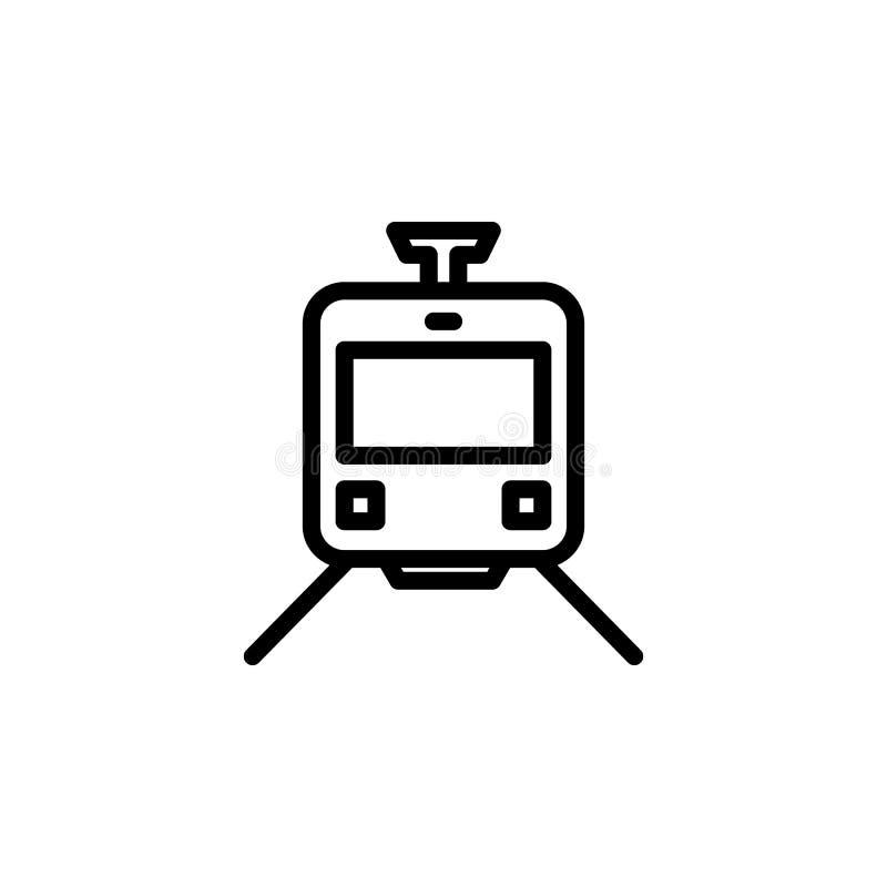 Εικονίδιο τραμ Στοιχείο των minimalistic εικονιδίων για την κινητούς έννοια και τον Ιστό apps Λεπτό εικονίδιο γραμμών για το σχέδ ελεύθερη απεικόνιση δικαιώματος