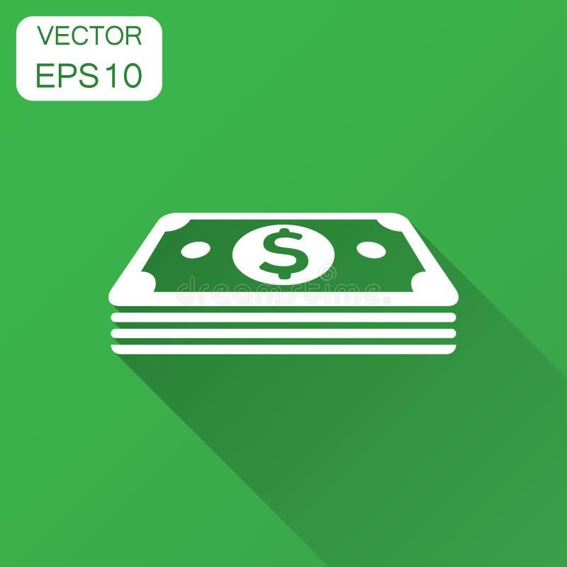 Εικονίδιο τραπεζογραμματίων νομίσματος δολαρίων στο επίπεδο ύφος Διάνυσμα μετρητών δολαρίων απεικόνιση αποθεμάτων