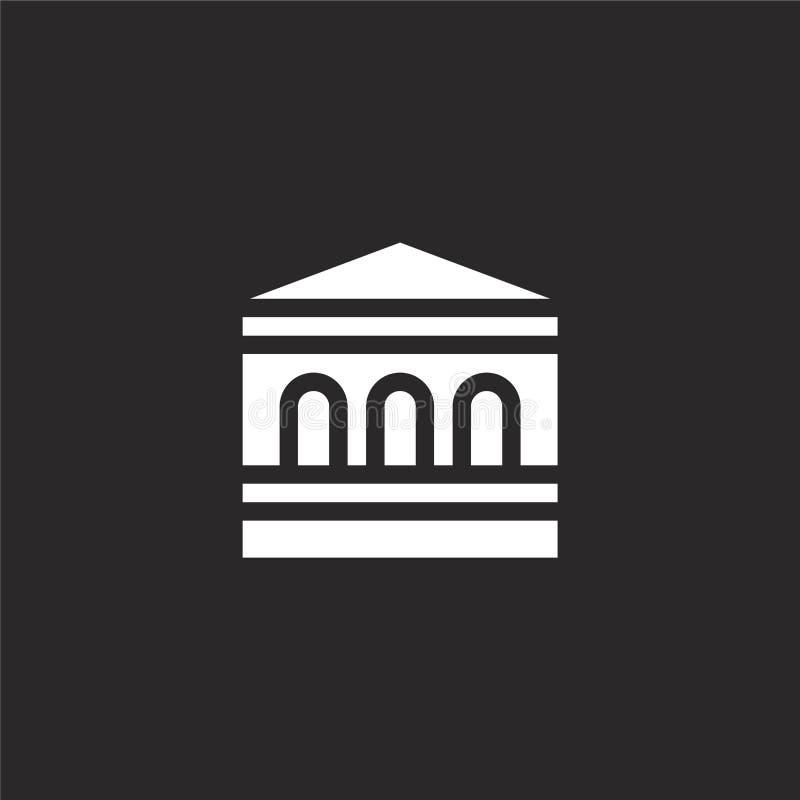 εικονίδιο τραπεζών Γεμισμένο εικονίδιο τραπεζών για το σχέδιο ιστοχώρου και κινητός, app ανάπτυξη εικονίδιο τραπεζών από τη γεμισ ελεύθερη απεικόνιση δικαιώματος