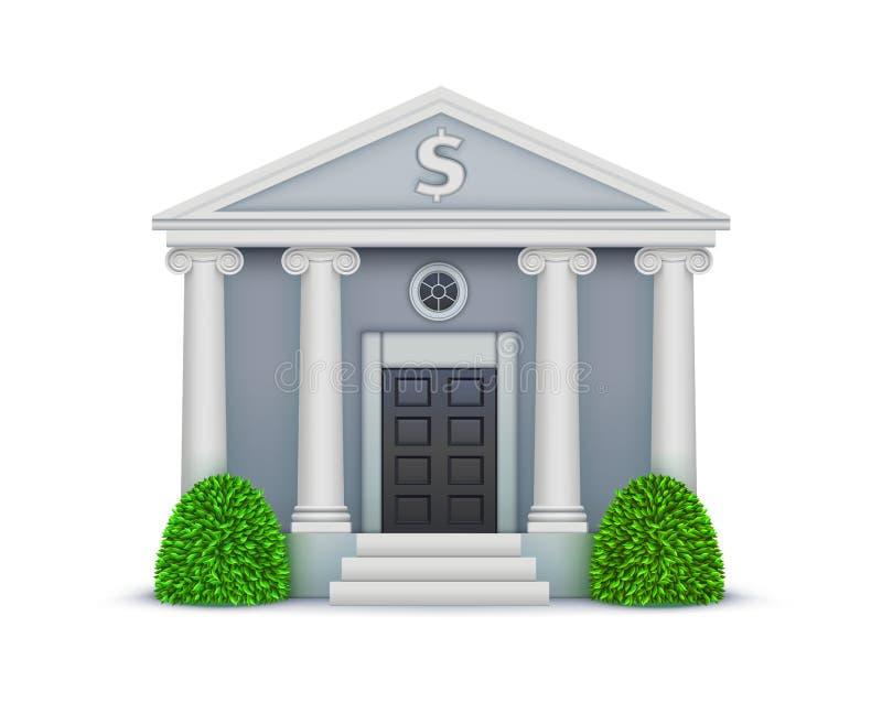 εικονίδιο τραπεζών διανυσματική απεικόνιση