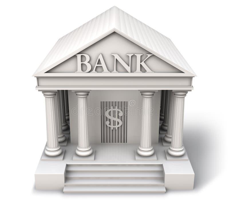 εικονίδιο τραπεζών στοκ εικόνα