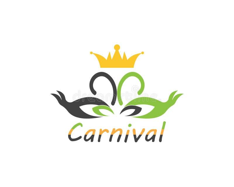 Εικονίδιο τσίρκων κομμάτων καρναβαλιού και διανυσματική απεικόνιση συμβόλων ελεύθερη απεικόνιση δικαιώματος