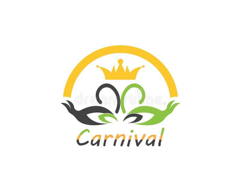 Εικονίδιο τσίρκων κομμάτων καρναβαλιού και διανυσματική απεικόνιση συμβόλων απεικόνιση αποθεμάτων