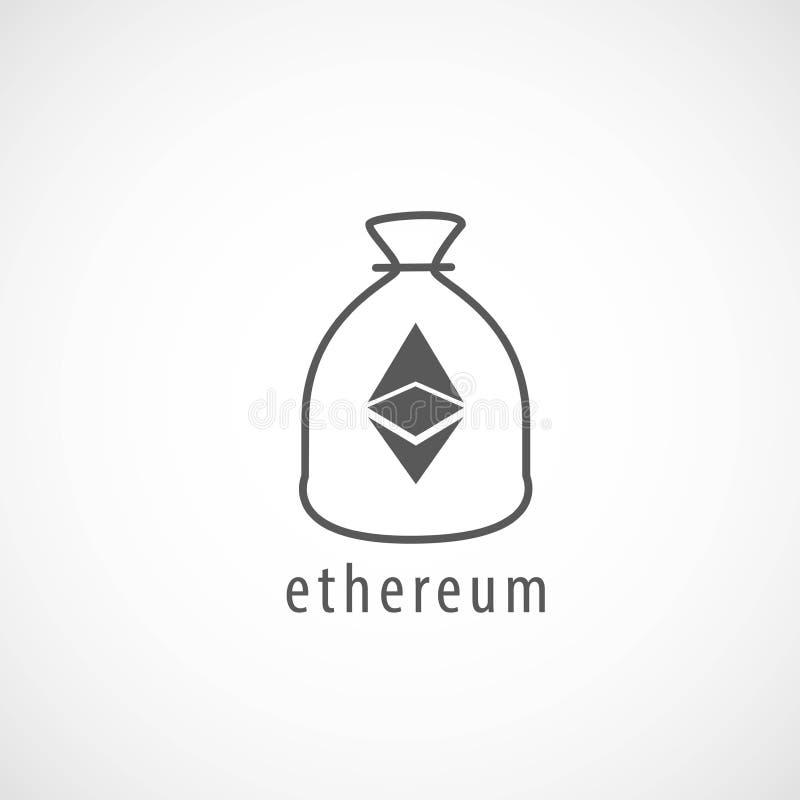 Εικονίδιο τσαντών Ethereum απεικόνιση αποθεμάτων