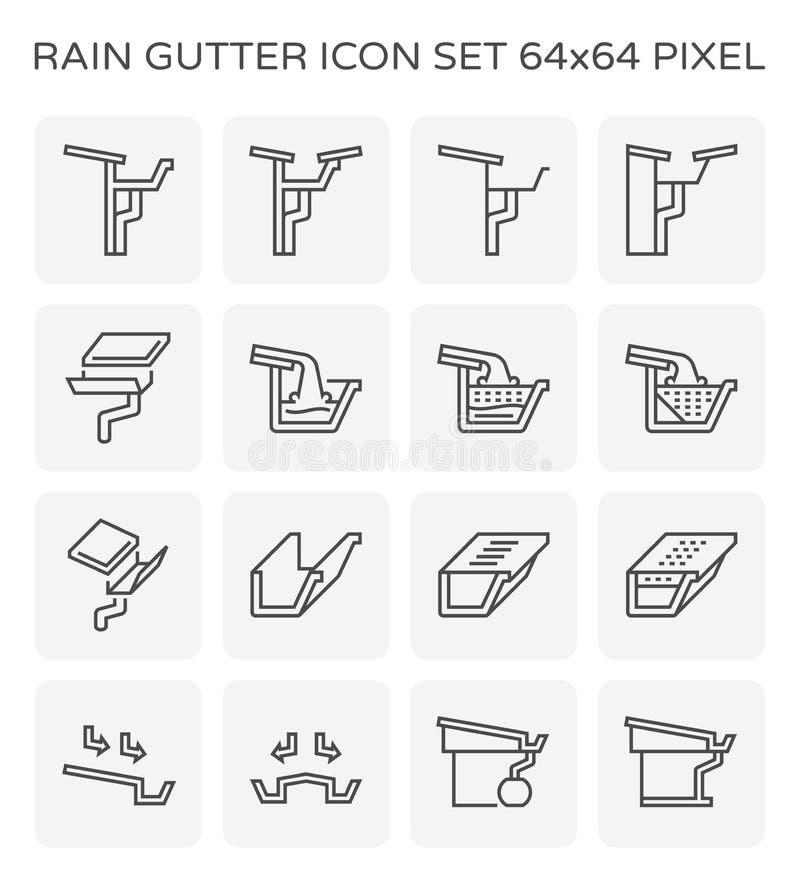 Εικονίδιο υδρορροών βροχής ελεύθερη απεικόνιση δικαιώματος