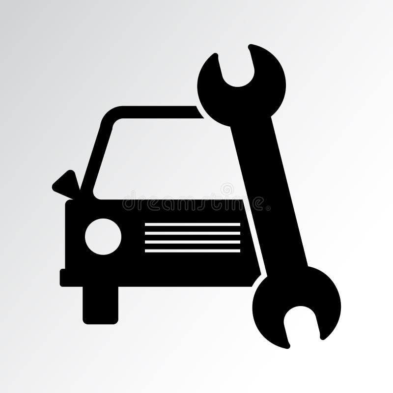 Εικονίδιο υπηρεσιών αυτοκινήτων επίσης corel σύρετε το διάνυσμα απεικόνισης διανυσματική απεικόνιση