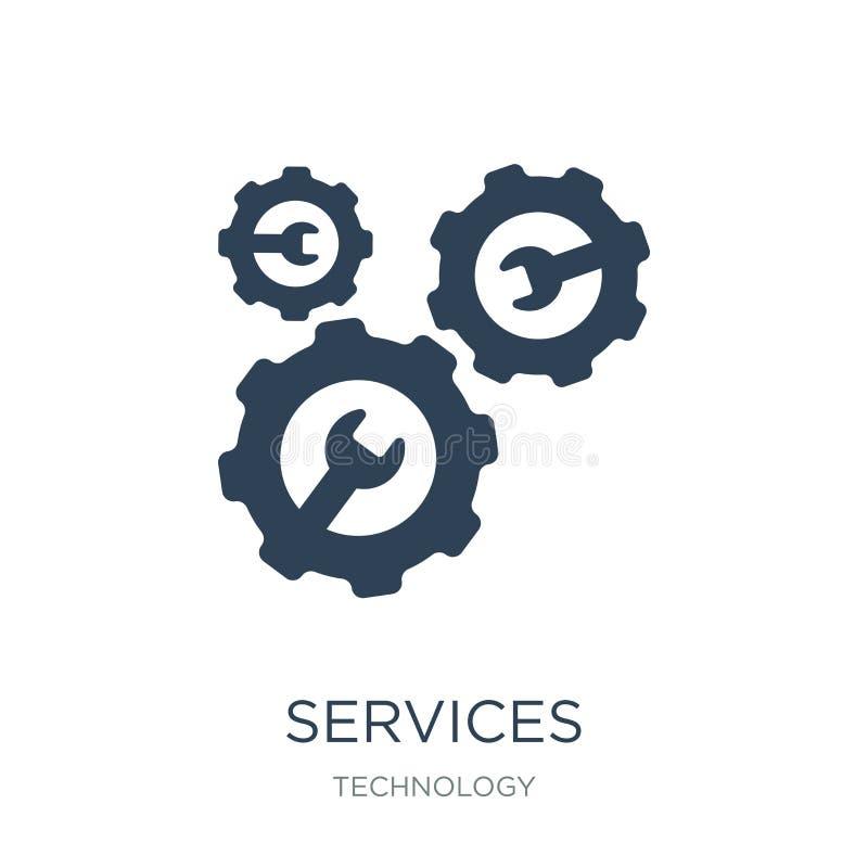 εικονίδιο υπηρεσιών στο καθιερώνον τη μόδα ύφος σχεδίου εικονίδιο υπηρεσιών που απομονώνεται στο άσπρο υπόβαθρο απλό και σύγχρονο διανυσματική απεικόνιση