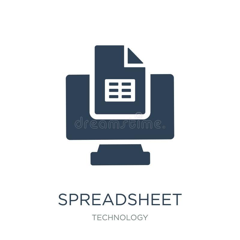 εικονίδιο υπολογισμών με λογιστικό φύλλο (spreadsheet) στο καθιερώνον τη μόδα ύφος σχεδίου εικονίδιο υπολογισμών με λογιστικό φύλ διανυσματική απεικόνιση
