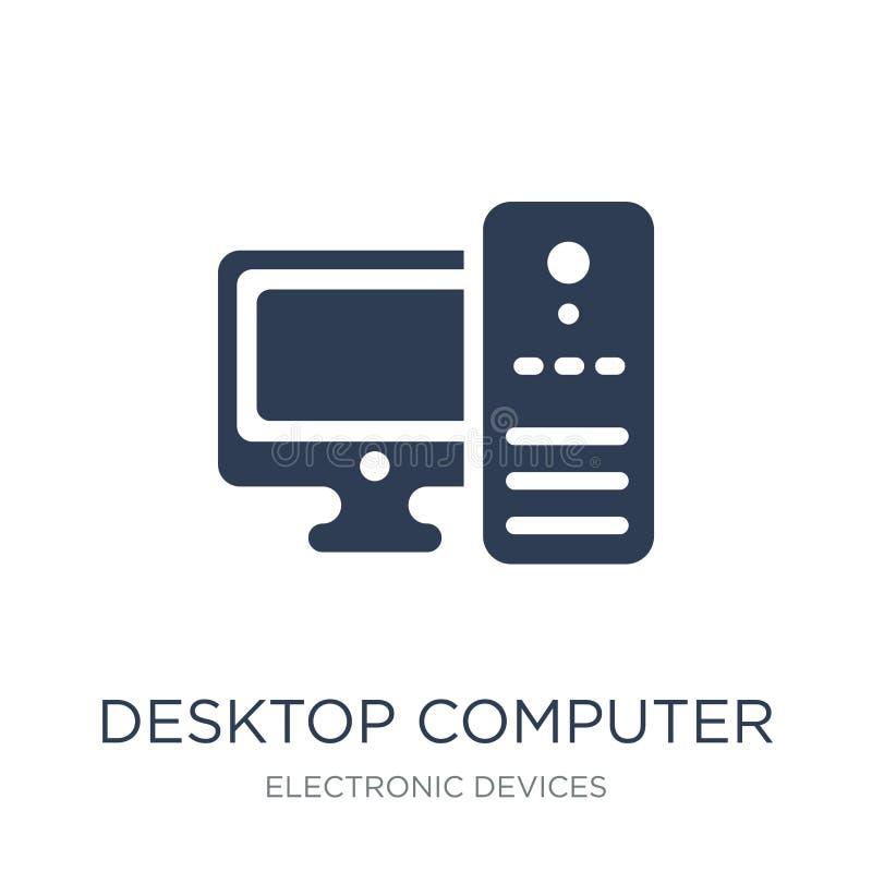 Εικονίδιο υπολογιστών γραφείου  διανυσματική απεικόνιση
