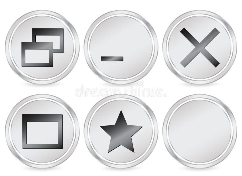 εικονίδιο υπολογιστών κύκλων απεικόνιση αποθεμάτων
