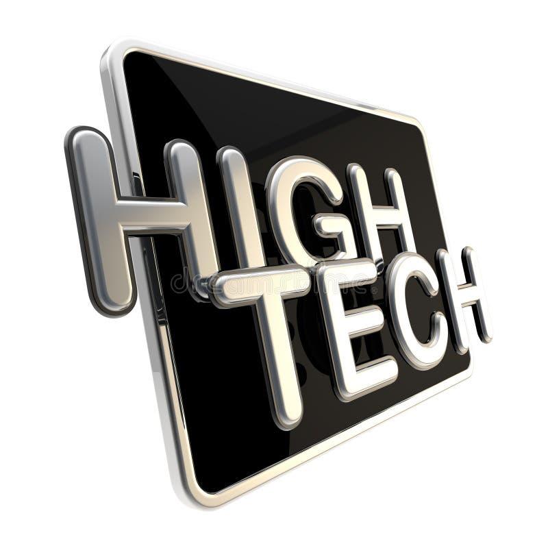 Εικονίδιο υψηλής τεχνολογίας που απομονώνεται στο λευκό απεικόνιση αποθεμάτων
