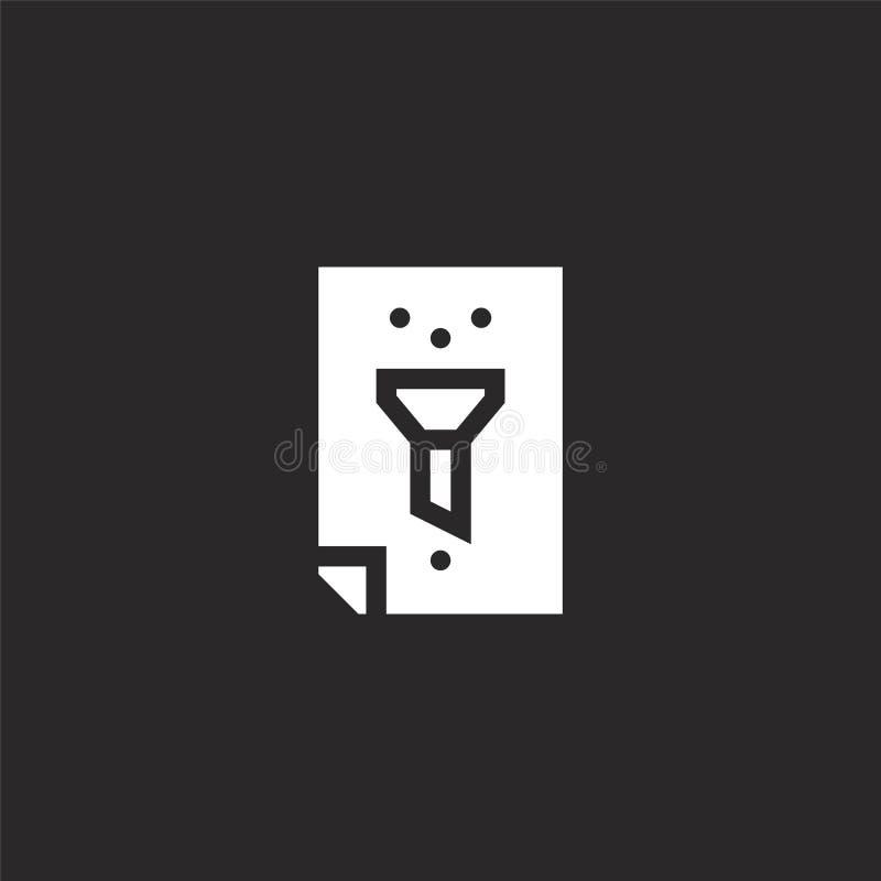 εικονίδιο φίλτρων Γεμισμένο εικονίδιο φίλτρων για το σχέδιο ιστοχώρου και κινητός, app ανάπτυξη εικονίδιο φίλτρων από τη γεμισμέν απεικόνιση αποθεμάτων