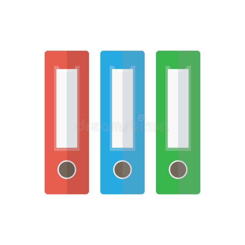 Εικονίδιο φακέλλων αρχείων bindery διανυσματική απεικόνιση