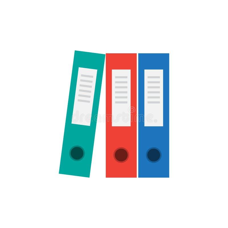 Εικονίδιο φακέλλων αρχείων bindery απεικόνιση αποθεμάτων