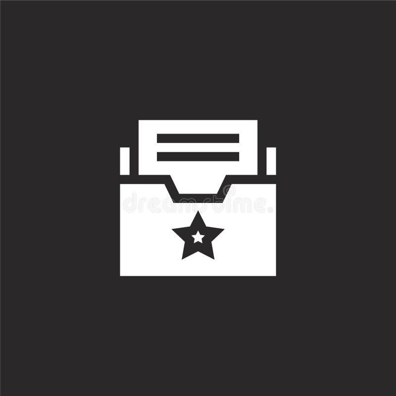εικονίδιο φακέλλων Γεμισμένο εικονίδιο φακέλλων για το σχέδιο ιστοχώρου και κινητός, app ανάπτυξη το εικονίδιο φακέλλων από γεμισ ελεύθερη απεικόνιση δικαιώματος