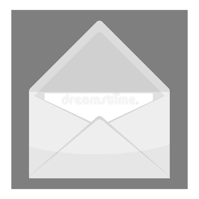 Εικονίδιο φακέλων, γκρίζο μονοχρωματικό ύφος απεικόνιση αποθεμάτων