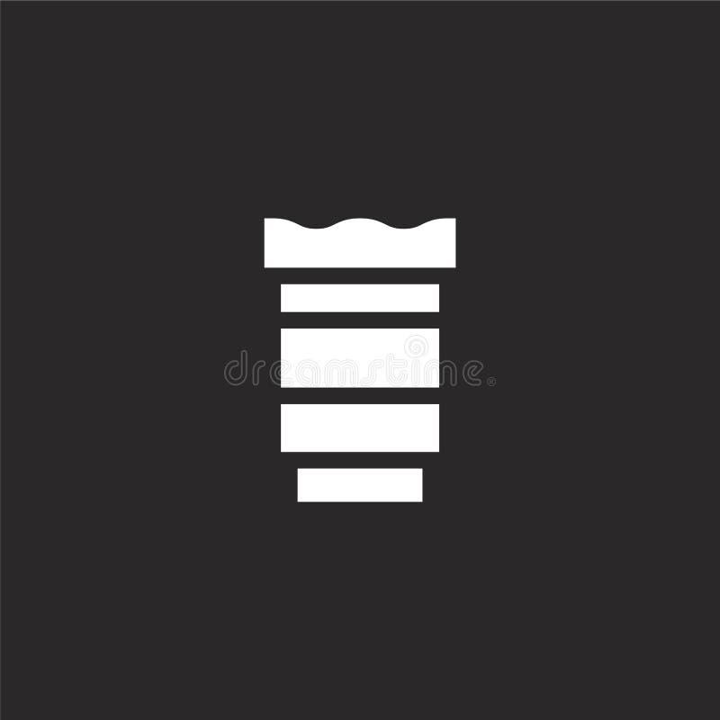εικονίδιο φακών Γεμισμένο εικονίδιο φακών για το σχέδιο ιστοχώρου και κινητός, app ανάπτυξη εικονίδιο φακών από τη γεμισμένη συλλ διανυσματική απεικόνιση