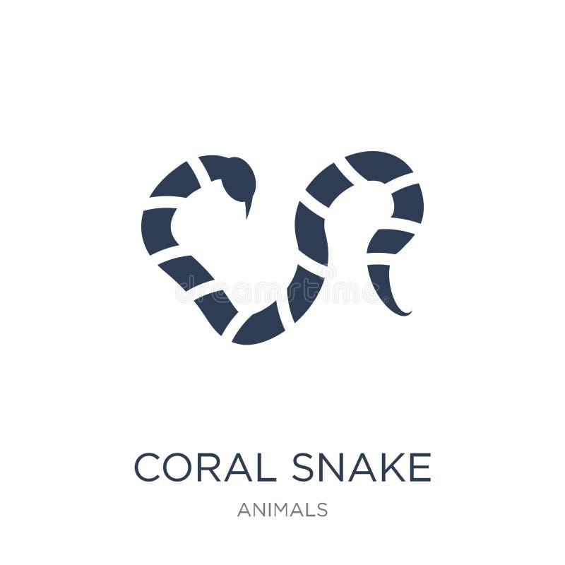 εικονίδιο φιδιών κοραλλιών Καθιερώνον τη μόδα επίπεδο διανυσματικό εικονίδιο φιδιών κοραλλιών στο άσπρο β διανυσματική απεικόνιση