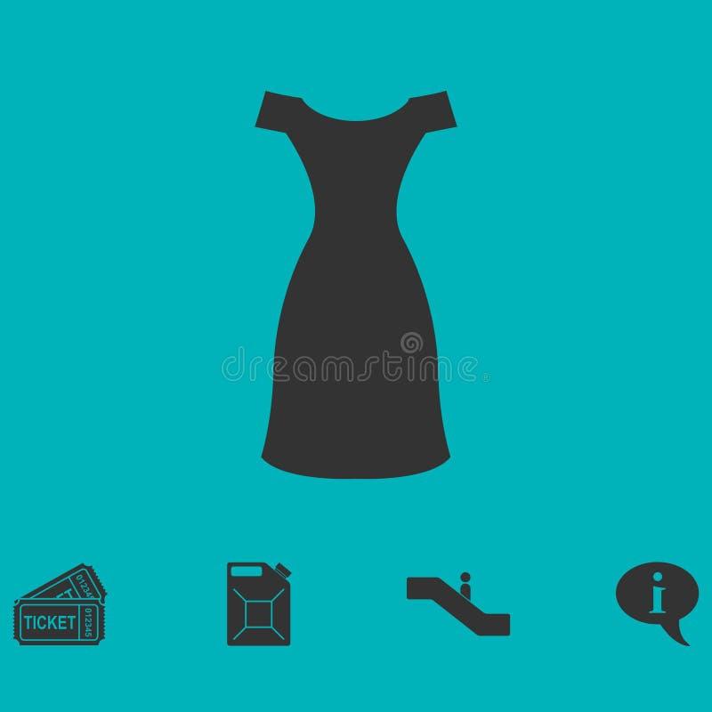 Εικονίδιο φορεμάτων επίπεδο διανυσματική απεικόνιση