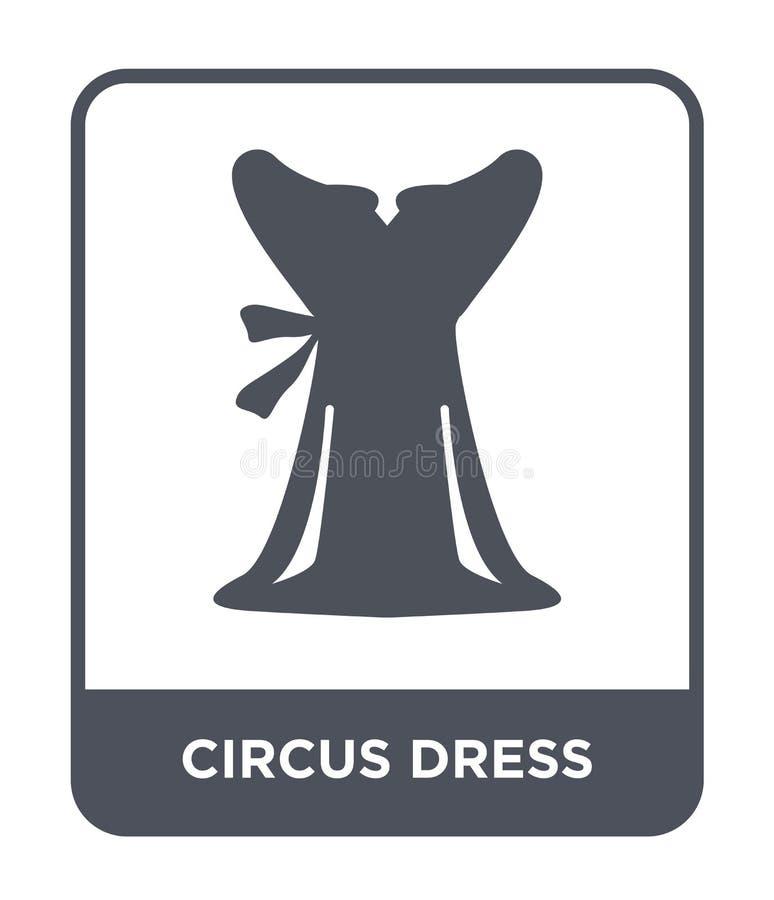 εικονίδιο φορεμάτων τσίρκων στο καθιερώνον τη μόδα ύφος σχεδίου εικονίδιο φορεμάτων τσίρκων που απομονώνεται στο άσπρο υπόβαθρο δ ελεύθερη απεικόνιση δικαιώματος
