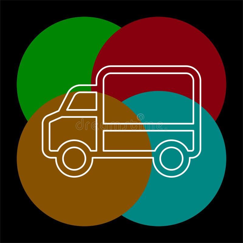 Εικονίδιο φορτηγών παράδοσης - στέλνοντας σύμβολο διανυσματική απεικόνιση