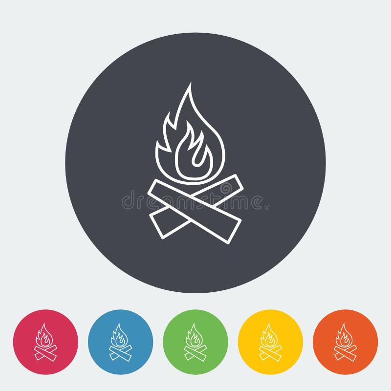 εικονίδιο φωτιών ελεύθερη απεικόνιση δικαιώματος