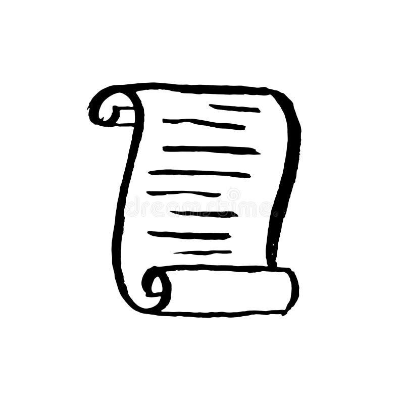 Εικονίδιο φύλλων εγγράφου περγαμηνής r απεικόνιση αποθεμάτων