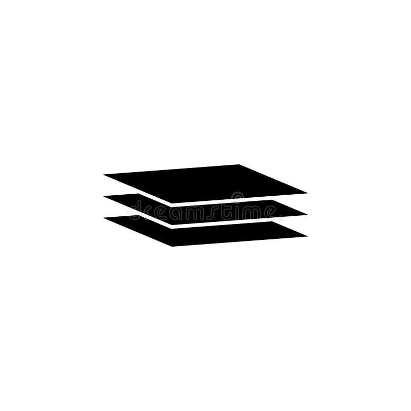 εικονίδιο φύλλων επιπέδων Στοιχείο του minimalistic εικονιδίου για την κινητούς έννοια και τον Ιστό apps Εικονίδιο συλλογής σημαδ διανυσματική απεικόνιση