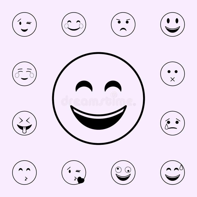 εικονίδιο χαμόγελου r απεικόνιση αποθεμάτων