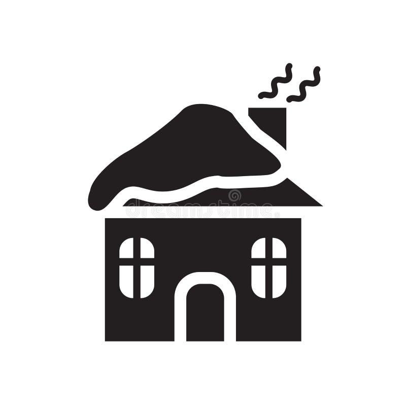 εικονίδιο χειμερινών καμπινών Καθιερώνουσα τη μόδα έννοια λογότυπων χειμερινών καμπινών στη λευκιά ΤΣΕ διανυσματική απεικόνιση