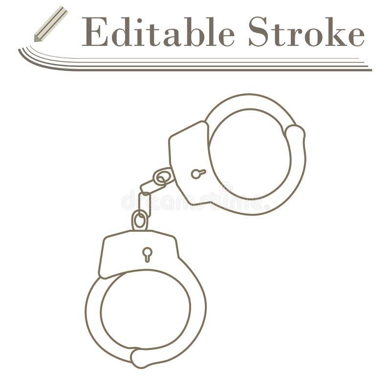 Εικονίδιο χειροπεδών απεικόνιση αποθεμάτων