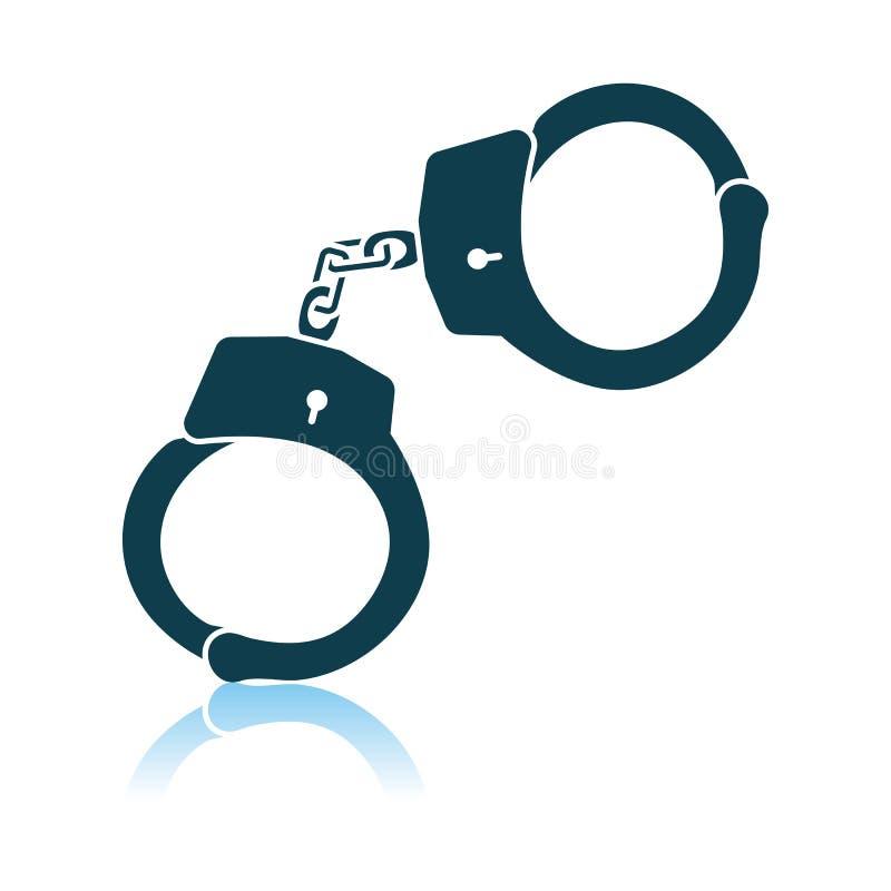 Εικονίδιο χειροπεδών αστυνομίας ελεύθερη απεικόνιση δικαιώματος