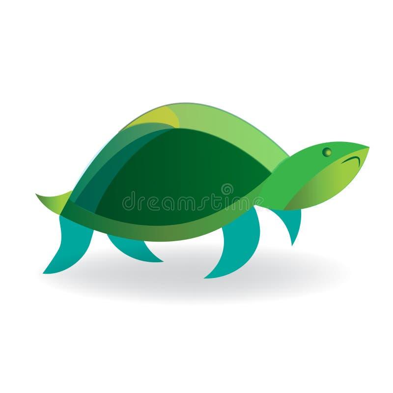 Εικονίδιο χελωνών στην άσπρη απεικόνιση εικονιδίων εικόνας λογότυπων διανυσματική διανυσματική απεικόνιση