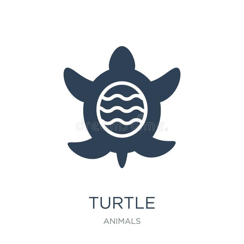 εικονίδιο χελωνών στο καθιερώνον τη μόδα ύφος σχεδίου Εικονίδιο χελωνών που απομονώνεται στο άσπρο υπόβαθρο απλό και σύγχρονο επί απεικόνιση αποθεμάτων