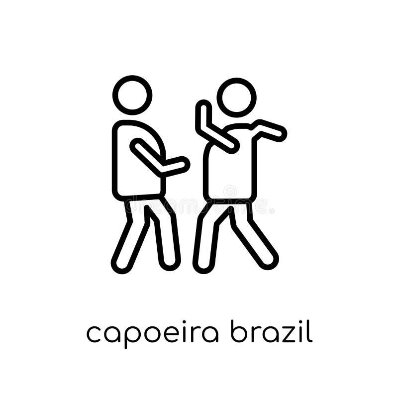 Εικονίδιο χορευτών της Βραζιλίας Capoeira από τη βραζιλιάνα συλλογή εικονιδίων ελεύθερη απεικόνιση δικαιώματος