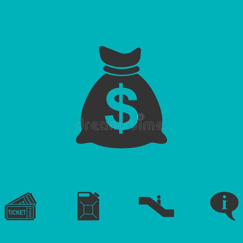 Εικονίδιο χρημάτων επίπεδο ελεύθερη απεικόνιση δικαιώματος