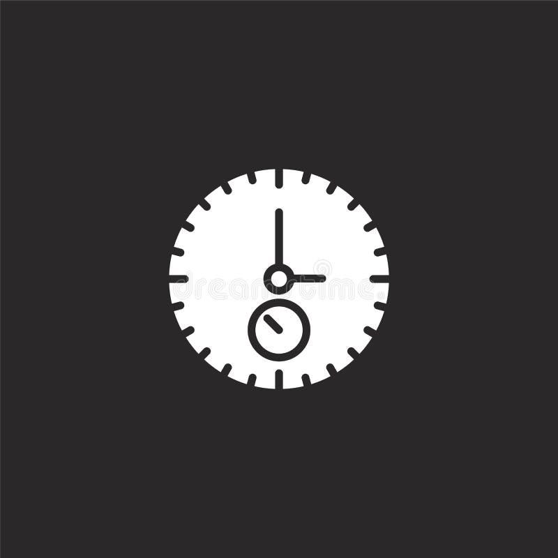 Εικονίδιο χρονομέτρων με διακόπτη Γεμισμένο εικονίδιο χρονομέτρων με διακόπτη για το σχέδιο ιστοχώρου και κινητός, app ανάπτυξη ε διανυσματική απεικόνιση