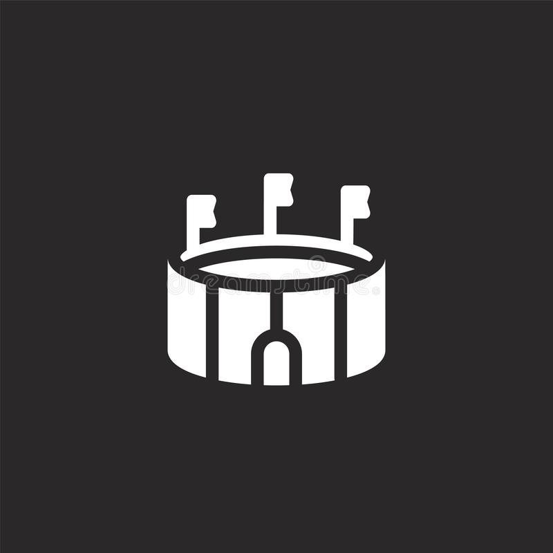 εικονίδιο χώρων Γεμισμένο εικονίδιο χώρων για το σχέδιο ιστοχώρου και κινητός, app ανάπτυξη εικονίδιο χώρων από τη γεμισμένη αστι απεικόνιση αποθεμάτων