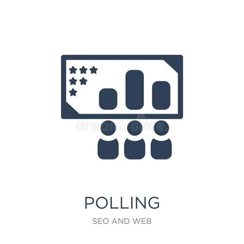 εικονίδιο ψηφοφορίας στο καθιερώνον τη μόδα ύφος σχεδίου εικονίδιο ψηφοφορίας που απομονώνεται στο άσπρο υπόβαθρο απλό και σύγχρο ελεύθερη απεικόνιση δικαιώματος
