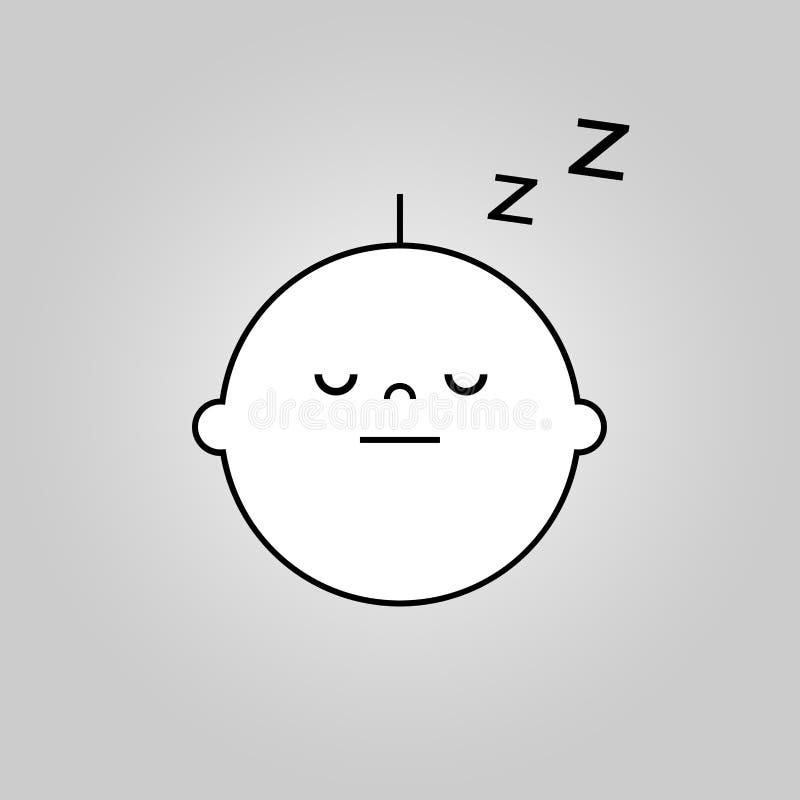 Εικονίδιο ύπνου μωρών διανυσματική απεικόνιση